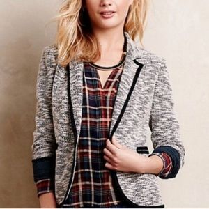Anthropologie Cartonnier Pipped Becket Jacket